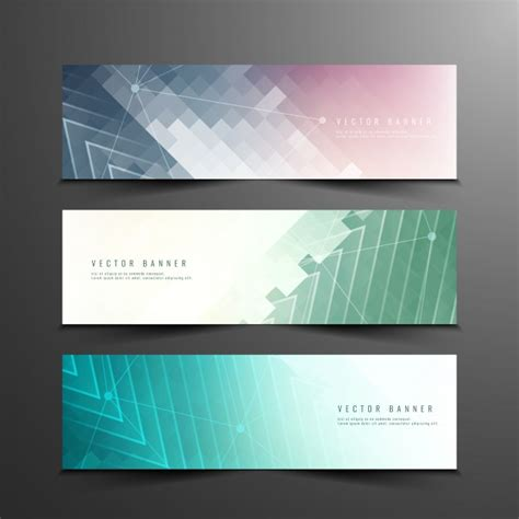 banner design online uk abstract colorful modern banners vector free download