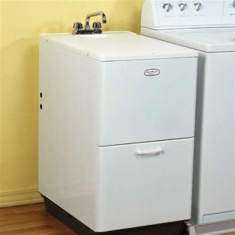 laundry wash tub with cabinet mustee duratub 28 in x 19 1 4 in x 35 1 2 in structural