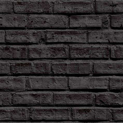 black brick wall arthouse vip brick wall pattern stone effect motif wallpaper 623007
