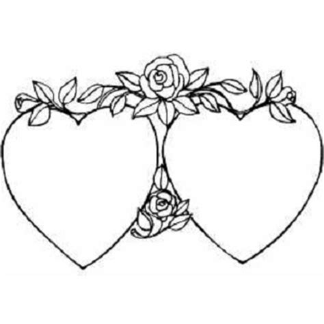 coloring pages of hearts and roses flowers coloring part 5