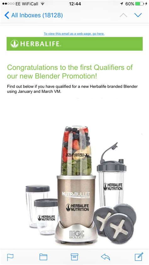 Blender Herbalife Herbalife Branded Chagne Coloured Nutribullet Pro S For The Whole Team Congratulations To