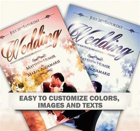flyer design wedding 24 wedding flyer templates psd vector eps jpg