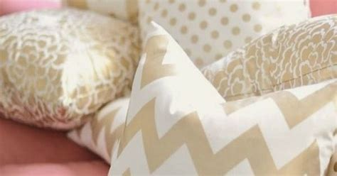 Gold chevron patterns and light pink perfect for a girl s room or