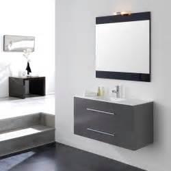 meuble salle de bain ancomalin 100 suspendu gris