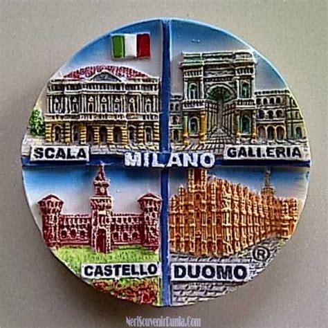 jual souvenir magnet kulkas kota milan italia