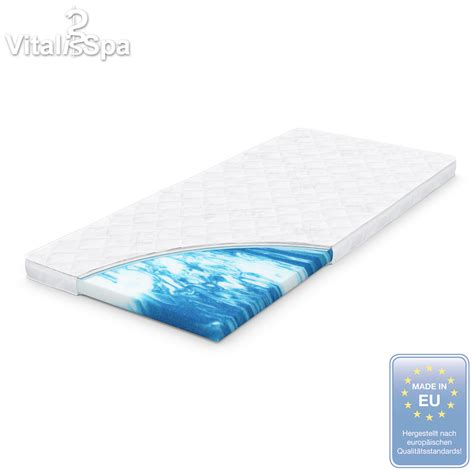 gel bed topper vitalispa 174 gel foam topper mattress pad formfit foam