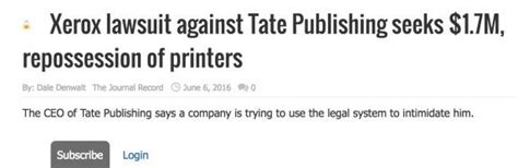 Is Tate Publishing A Vanity Press by Xerox Is Suing Tate Publishing For 1 7 Million The Lost Ogle