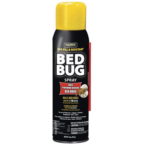 bed bug killers harris toughest bed bug aerosol spray black label pf harris