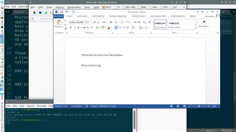 tutorial excel linux microsoft office 2013 and 2010 on linux raymii org