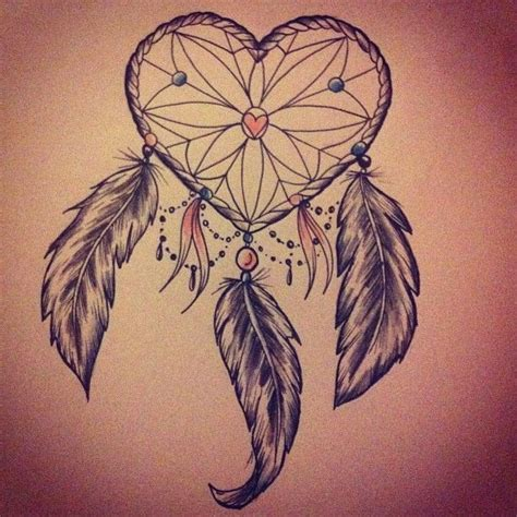 feather tattoo dreamcatcher by beau victoria redman heart dream catcher with feathers