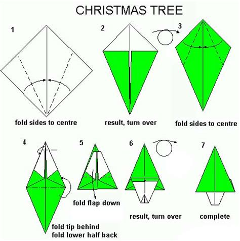 very easy origami christmas tree for kids