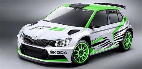skoda fabia r5 wrc 2 rally car will debut in essen