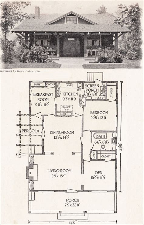 california bungalow floor plans 1916 california bungalow 1200 sq ft helen lukens