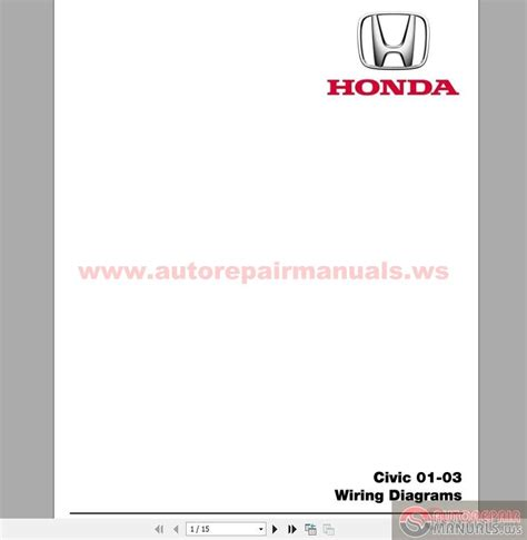 honda civic 2001 2003 wiring diagrams auto repair manual