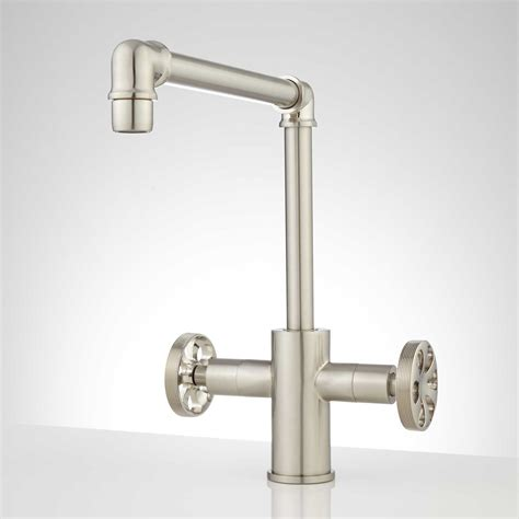 single hole kitchen faucet edison single hole dual handle kitchen faucet ebay