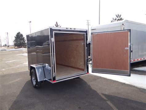 trailer swing doors 5 x 8 black cargo trailer with single rear swing door