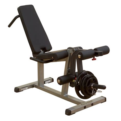 weight bench with leg extension body solid glce365 leg curl leg extension machine