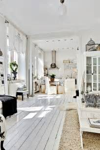 white interiors homes decordemon shabby chic atmosphere for a swedish apartment