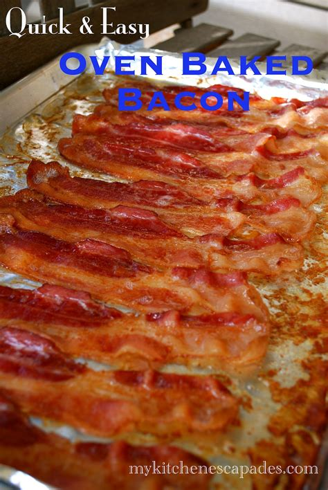 oven baked bacon my kitchen escapades