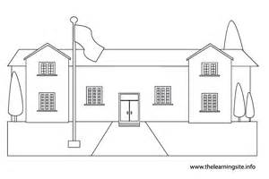School Clipart Outline by Best Photos Of Schoolhouse Outline For Coloring Schoolhouse Clip Black And White