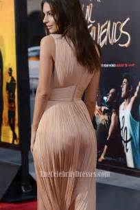 Wedding Shoes Champagne Emily Ratajkowski Champagne High Slit Evening Dress Red Carpet Gown In We Are Your Friends