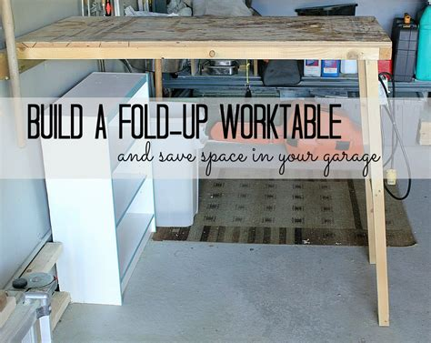 fold down work table for garage turtles and tails fold up garage worktable
