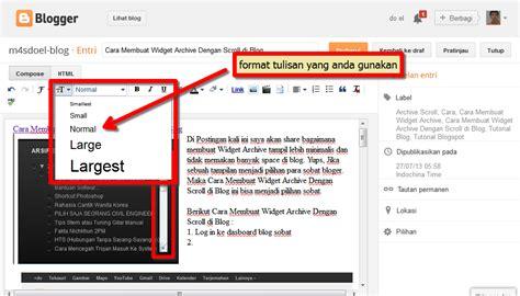 cara membuat video tulisan cara membuat post dan fungsi tool di blog m4sdoel blog