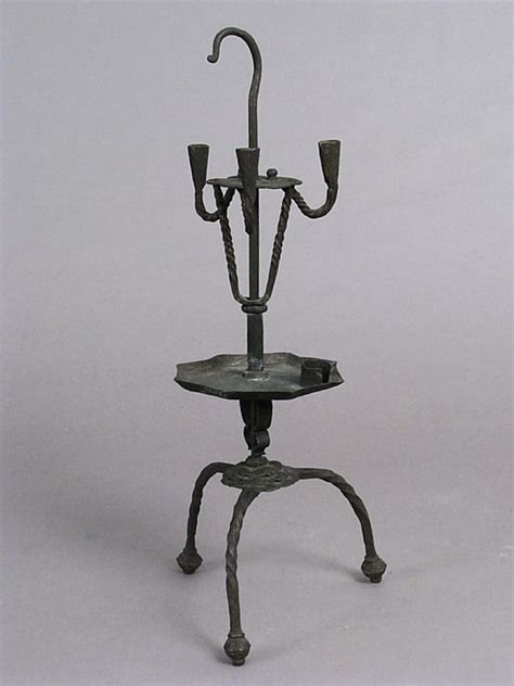 beleuchtung 17 jahrhundert candlestick 16th century iron met in ny date