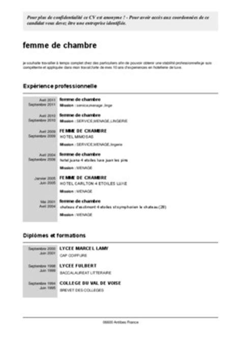 cv femme de chambre gratuit organigramme hotel 4 etoiles pdf notice manuel d utilisation