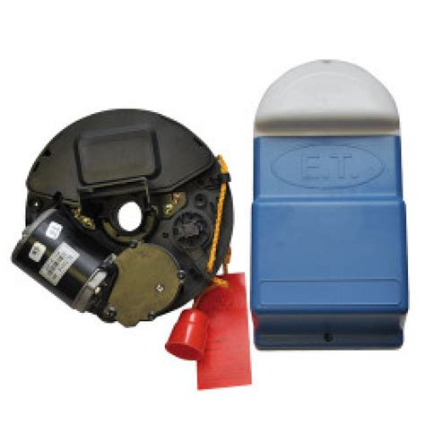 Electric Roller Garage Door Kits by Et Dc Blue Roll Up Garage Door Opener Kit