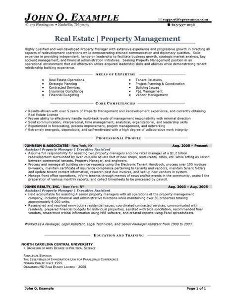 property manager resume property manager resume sle http resumesdesign