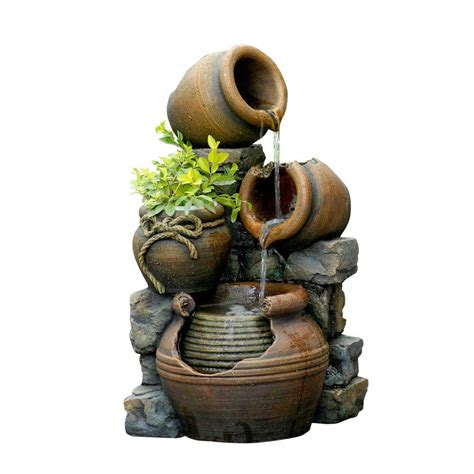 fountain cellar multi pots outdoor water fountain
