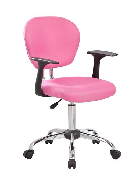 pink desk chair with arms modern chairs design pertaining