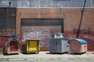 artist greg kloehn s mini mobile houses given to the