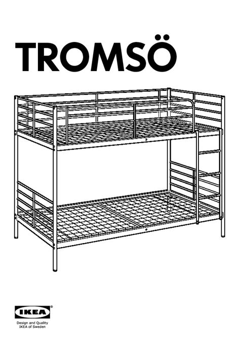 Tromso Bed Frame Troms 214 Bunk Bed Frame White Ikea United States Ikeapedia