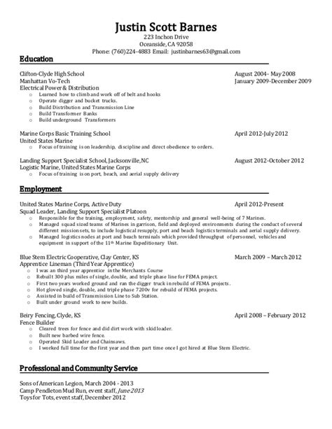 Lineman Resume by Distribution Lineman Resume