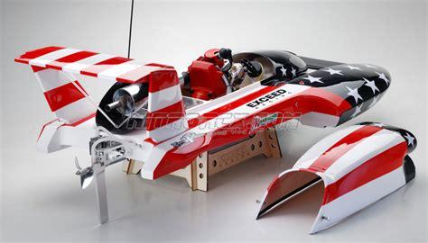 nitrorcx gas rc boats exceed racing gs260 fiberglass stars stripes 26cc gas