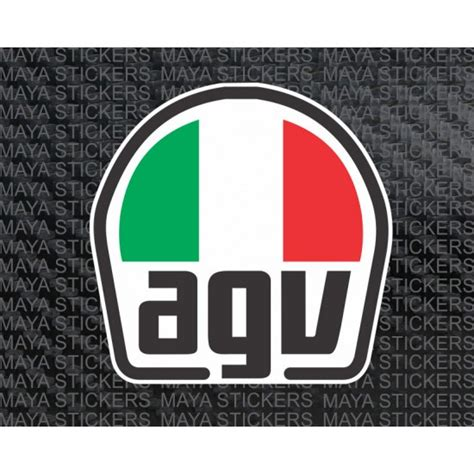 Stiker Helm Agv by Agv Helmet Multicolored Logo Sticker