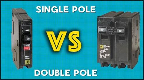 what is the difference between single pole and double pole circuit bre circuit breaker wholesale
