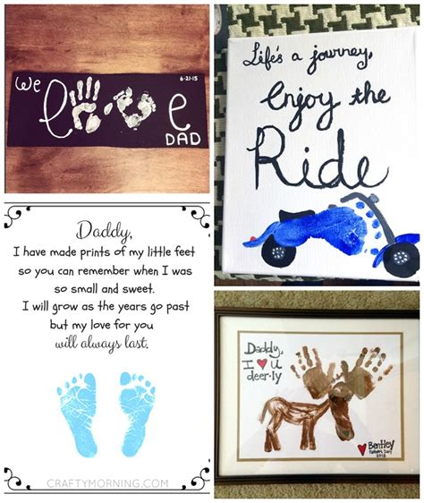 fathers day ideas s day footprint gift ideas from the crafty