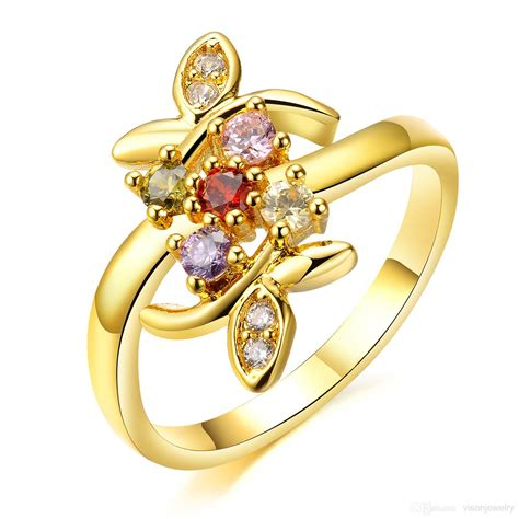 Golden Ring New Design by Attractive Beautiful Engagement Rings Design In Gold For