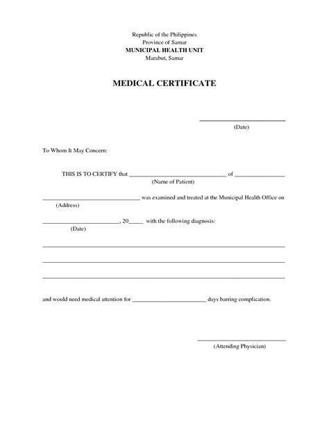 letter format sample medical certificate unique sample letters