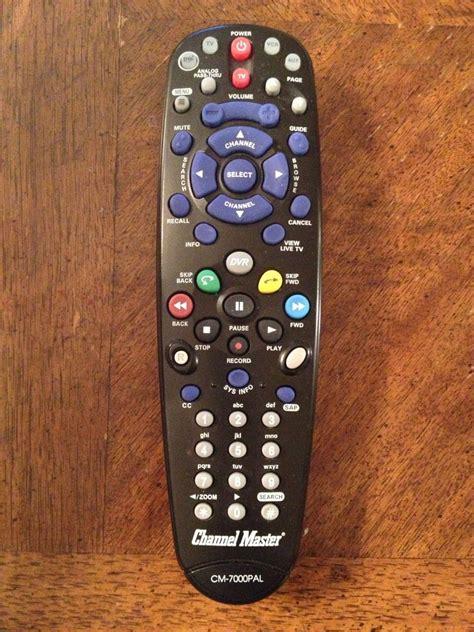program channel master cm pal dvr remote  run vizio