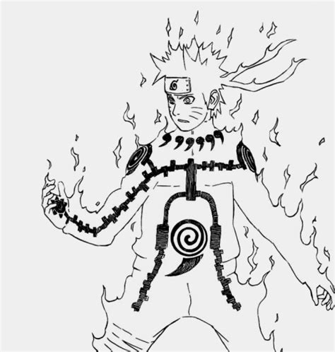 nine tails coloring pages naruto sages mode nine tails free coloring pages