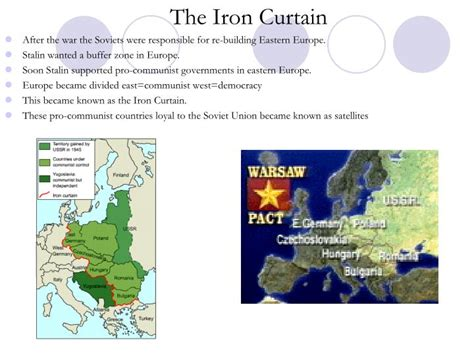 how was the iron curtain a dividing line ppt cold war powerpoint presentation id 1400007