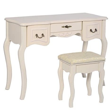 Folding Table With Drawers by Polar Set 5 Tri Folding Vintage White Vanity Makeup
