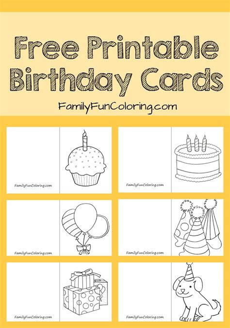 make birthday cards for free printable your one can color and give his own card to friends