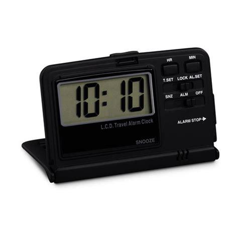 digital travel alarm clock in travel security