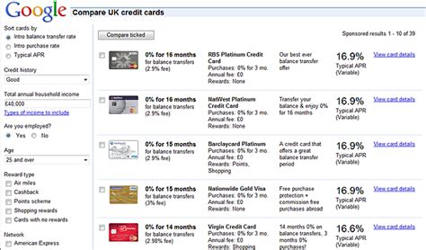 best credit cards uk compare 0 credit card deals offers google promotes credit card comparison tool money watch