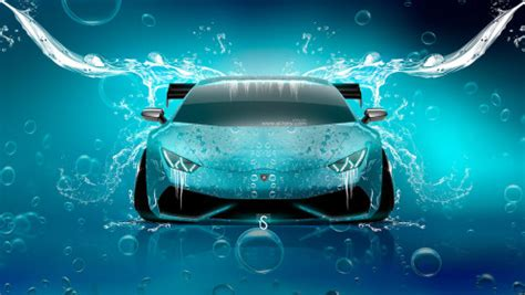 Lamborghini In Water Lamborghini Huracan Tuning Front Water Car 2014 El Tony